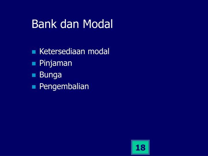 Bank dan Modal