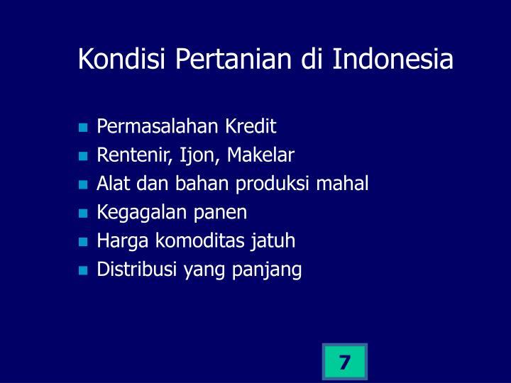 Kondisi Pertanian di Indonesia
