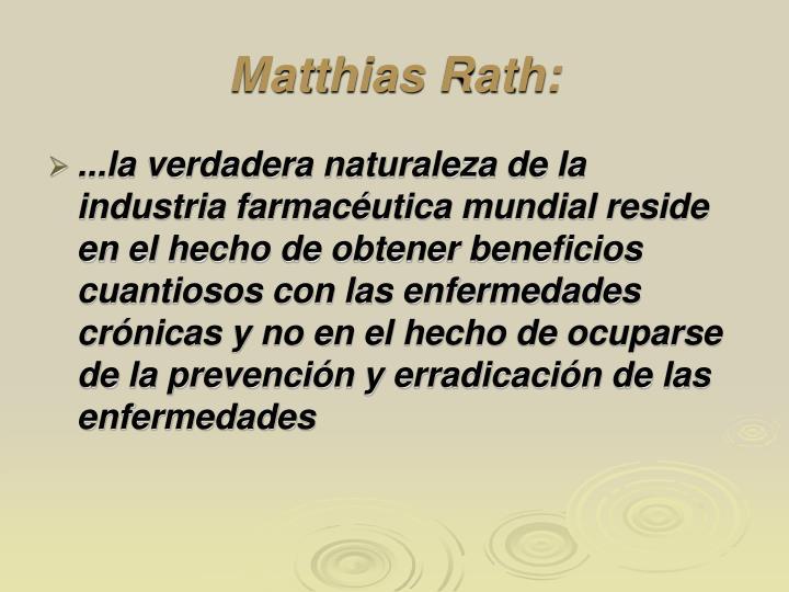 Matthias Rath: