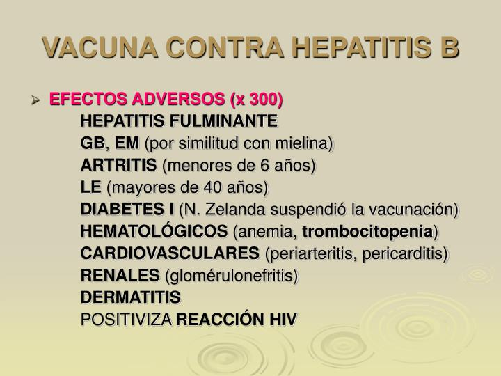 VACUNA CONTRA HEPATITIS B