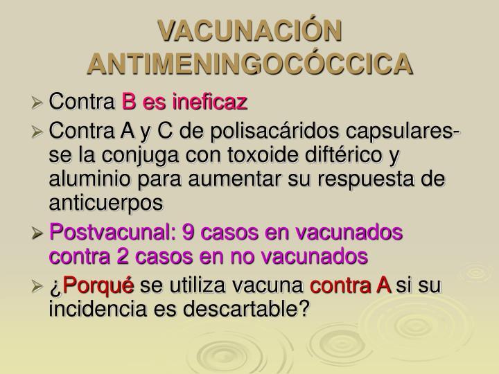 VACUNACIÓN ANTIMENINGOCÓCCICA