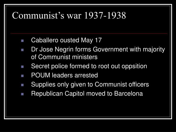 Communist's war 1937-1938
