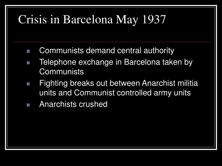 Crisis in Barcelona May 1937