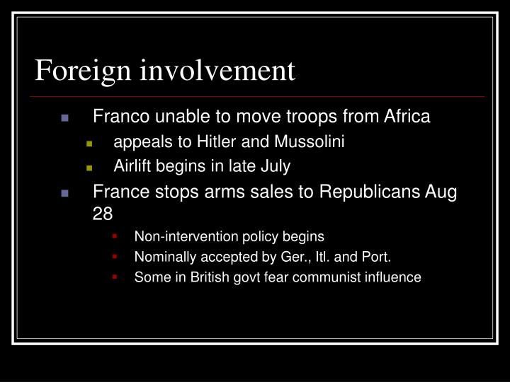 Foreign involvement