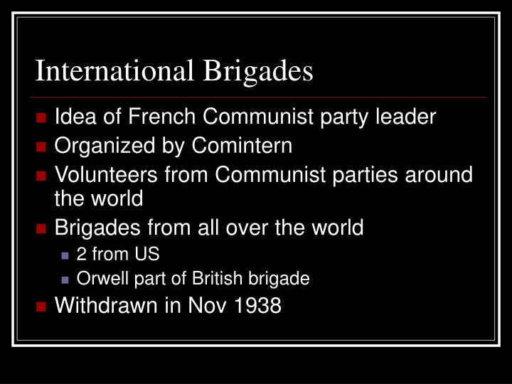 International Brigades