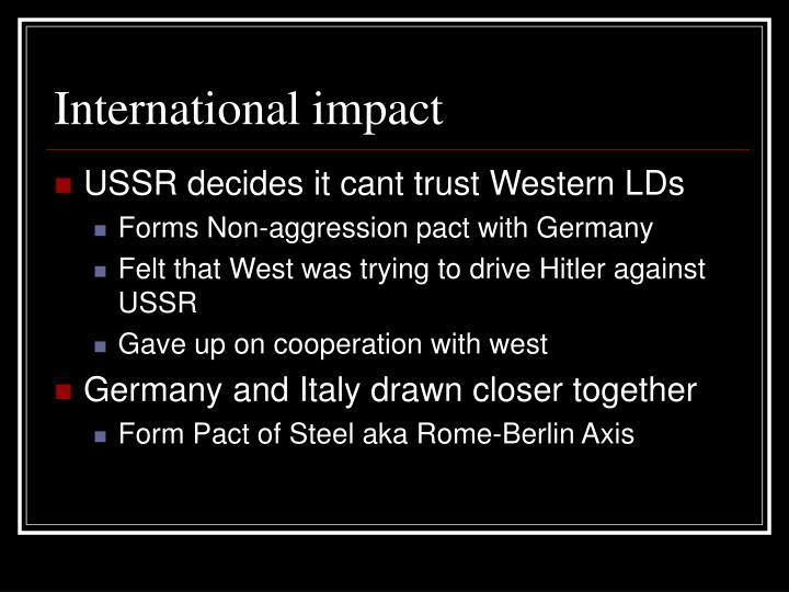 International impact