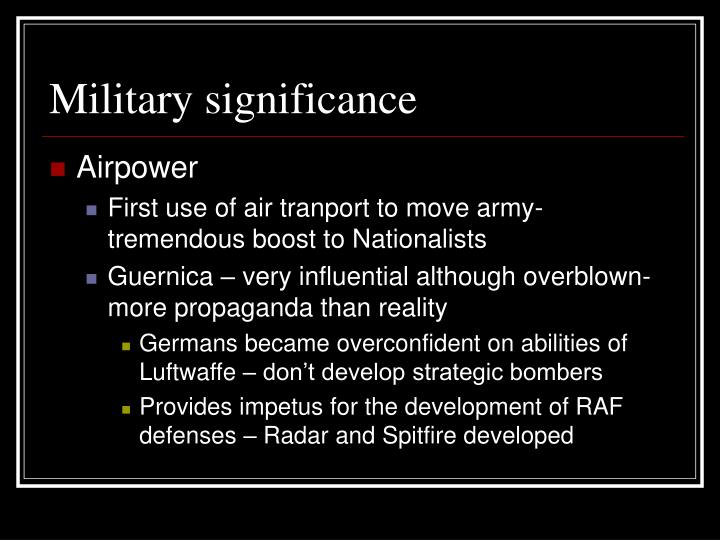 Military significance