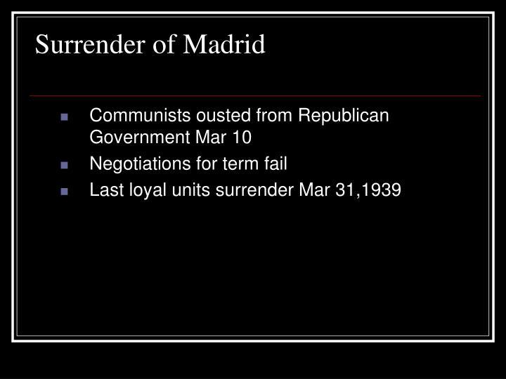 Surrender of Madrid