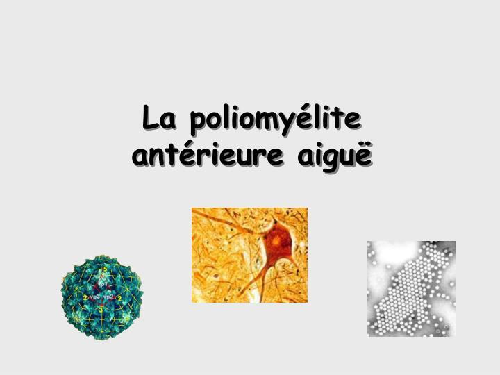 La poliomyélite