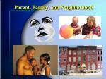 parent family and neighborhood
