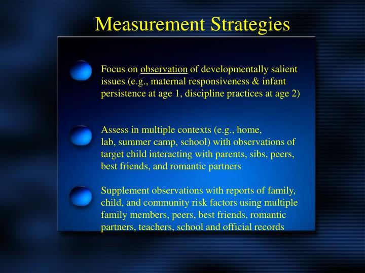Measurement Strategies