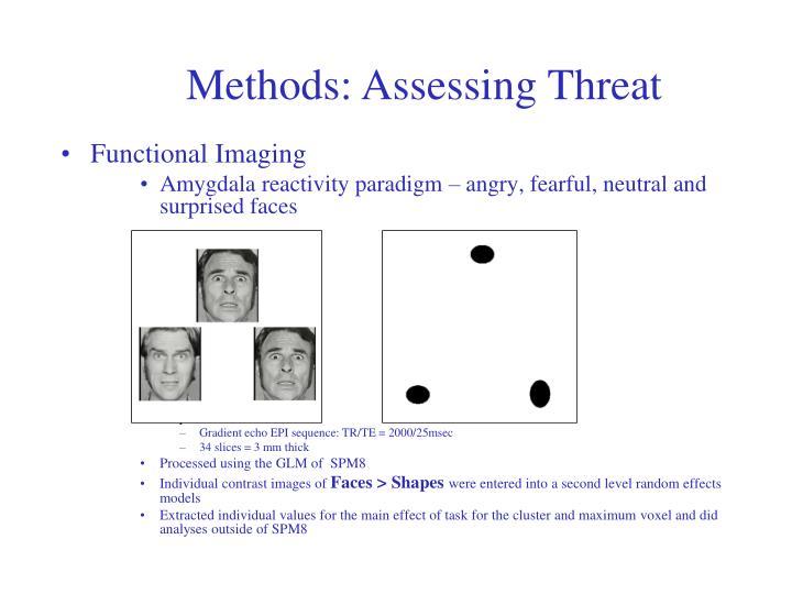 Methods: Assessing Threat
