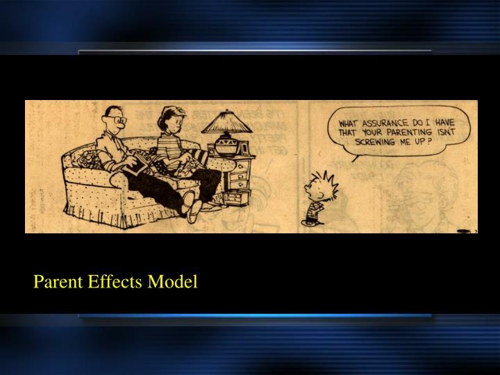 Parent Effects Model