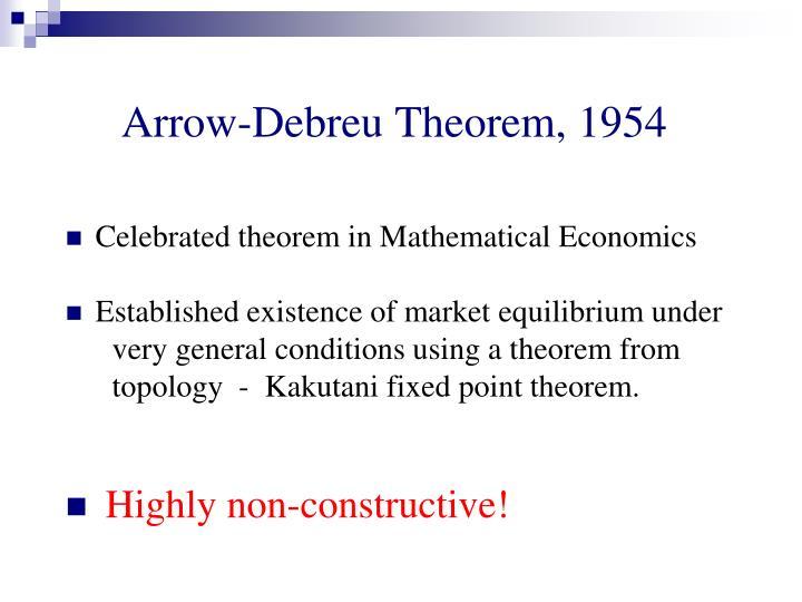 Arrow-Debreu Theorem, 1954