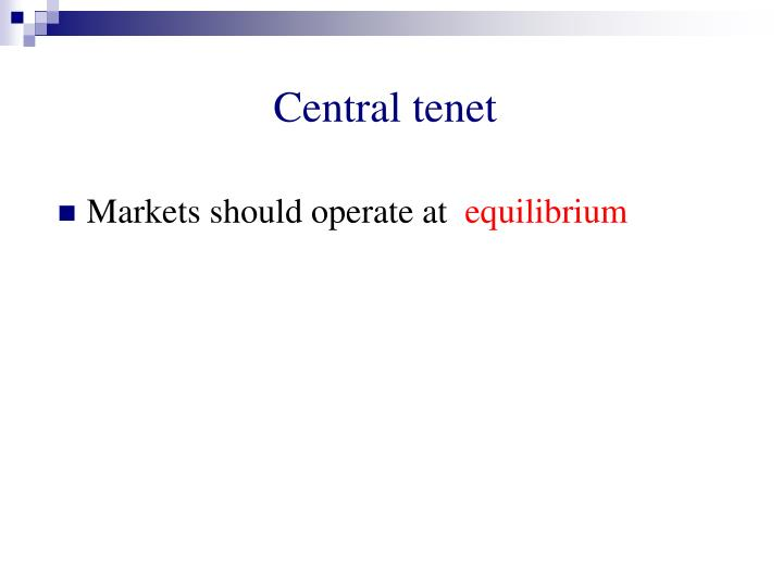 Central tenet