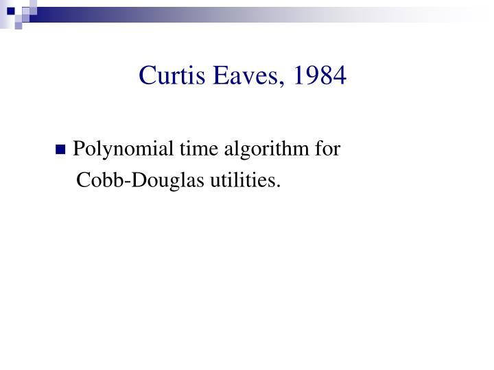 Curtis Eaves, 1984