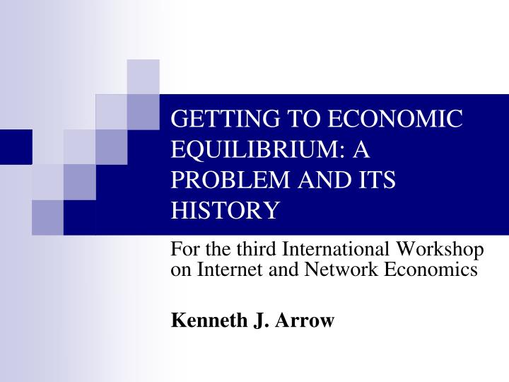 GETTING TO ECONOMIC EQUILIBRIUM: A PROBLEM AND ITS HISTORY