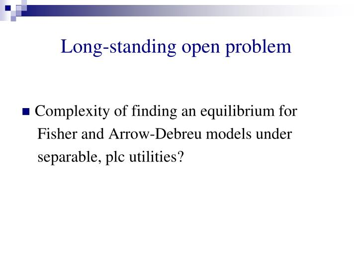 Long-standing open problem