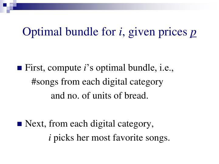 Optimal bundle for
