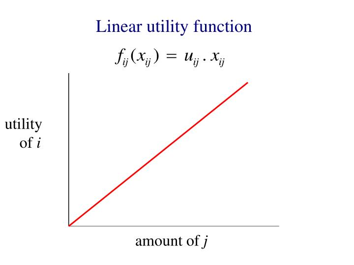 Linear utility function