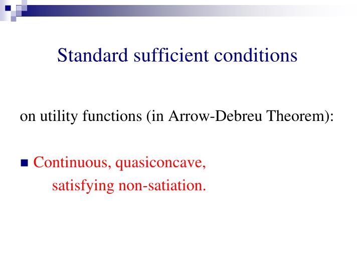Standard sufficient conditions