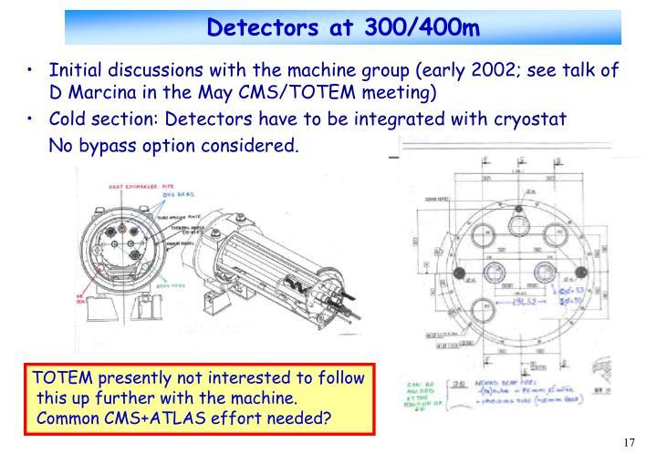 Detectors at 300/400m