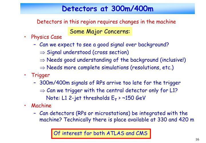 Detectors at 300m/400m