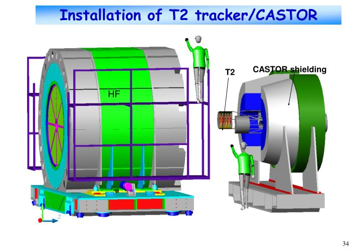 Installation of T2 tracker/CASTOR