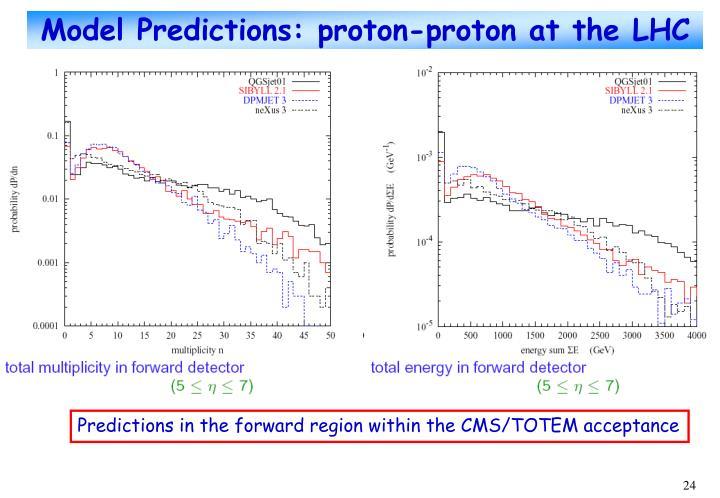 Model Predictions: proton-proton at the LHC