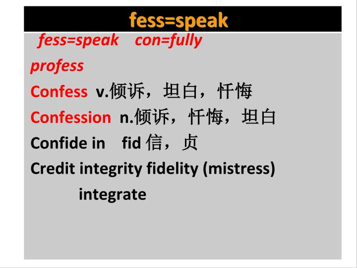 fess=speak
