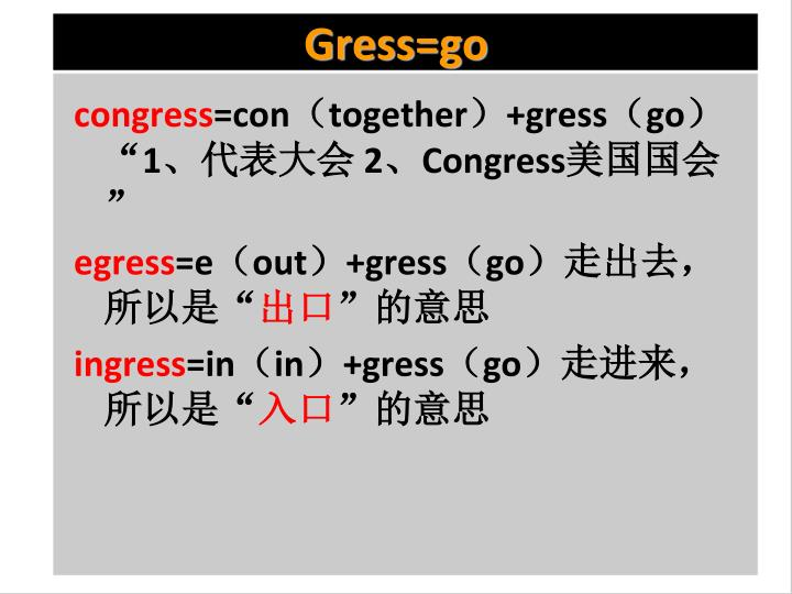 Gress=go