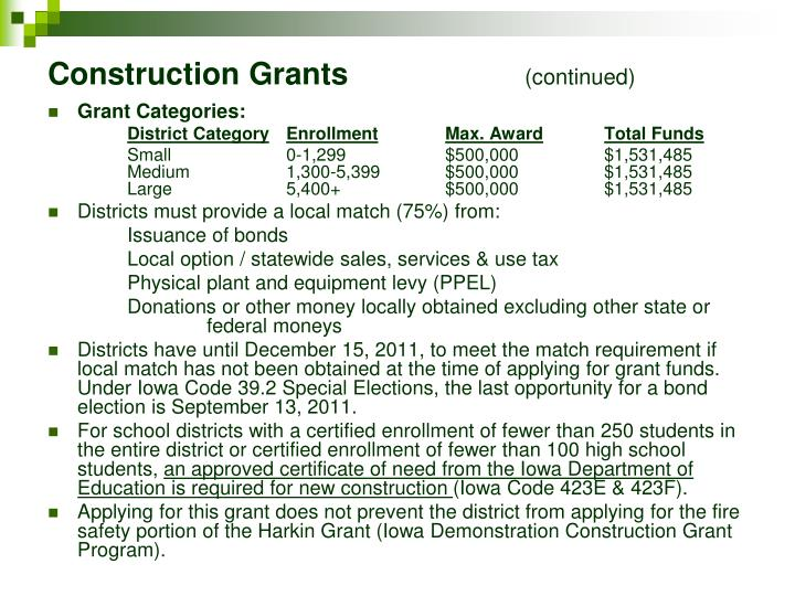 Construction Grants