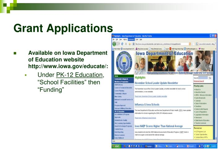 Available on Iowa Department of Education website http://www.iowa.gov/educate/: