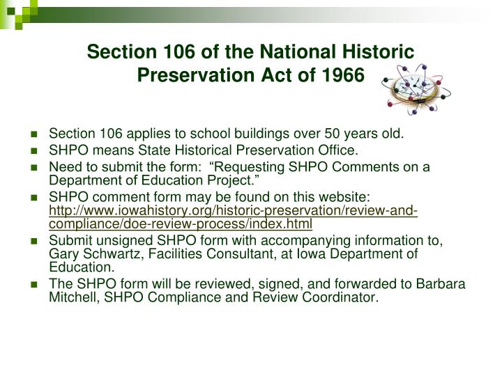 Section 106 of the National Historic Preservation Act of 1966