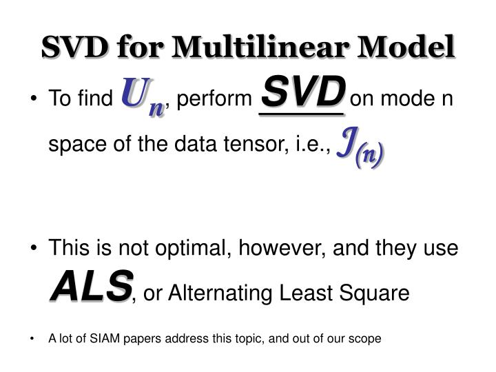 SVD for Multilinear Model