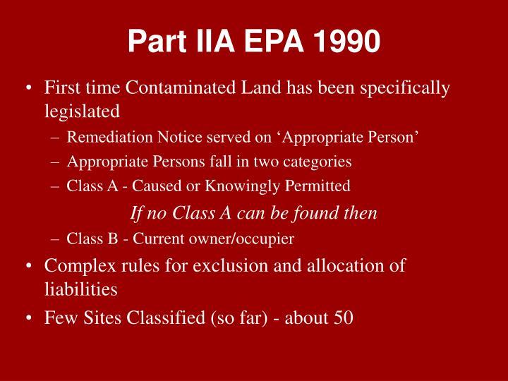 Part IIA EPA 1990