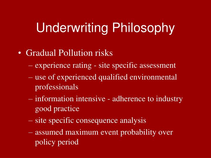 Underwriting Philosophy