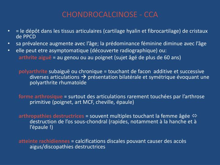 CHONDROCALCINOSE - CCA