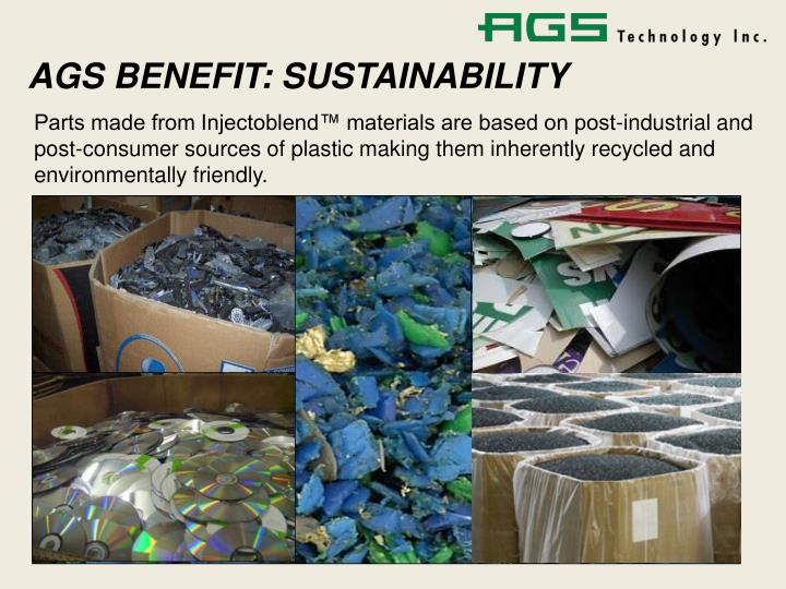 AGS BENEFIT: SUSTAINABILITY