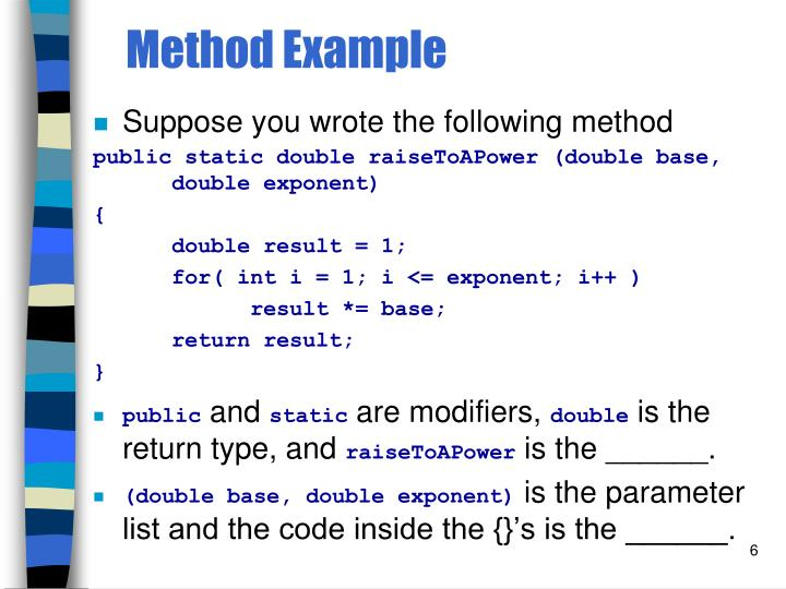 Method Example