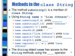 methods in the class string