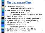 the calendar class