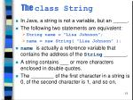 the class string