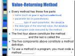 value returning method