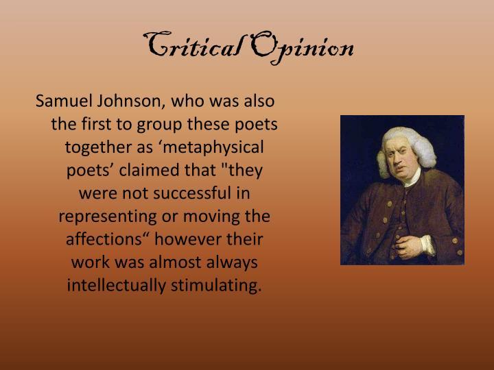 Critical Opinion