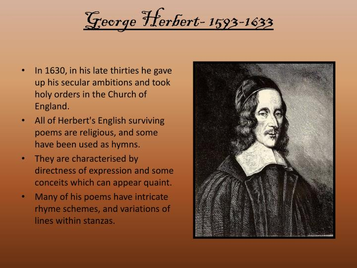 George Herbert- 1593-1633
