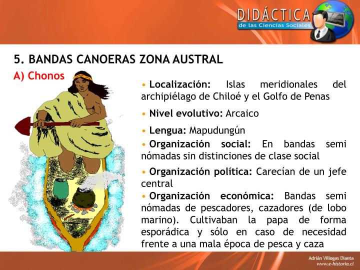 5. BANDAS CANOERAS ZONA AUSTRAL