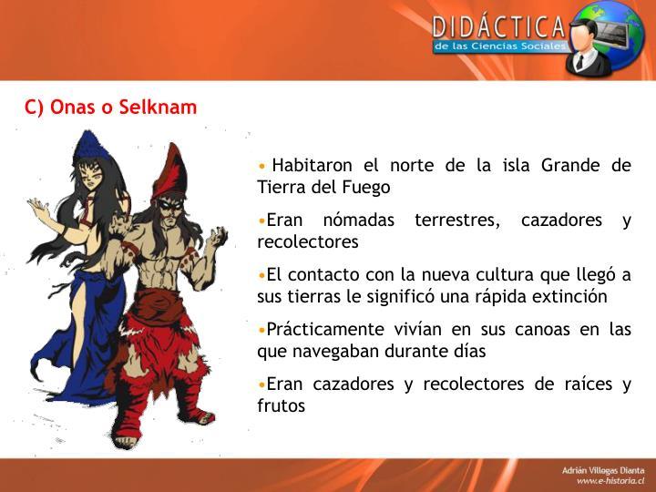 C) Onas o Selknam