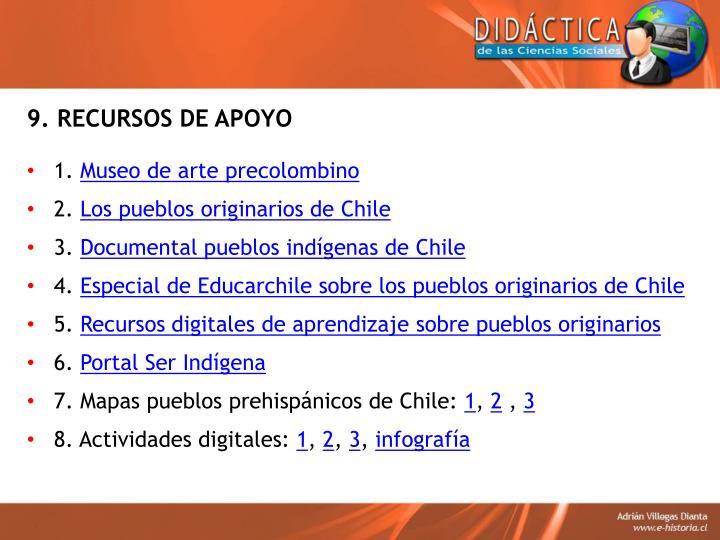 9. RECURSOS DE APOYO