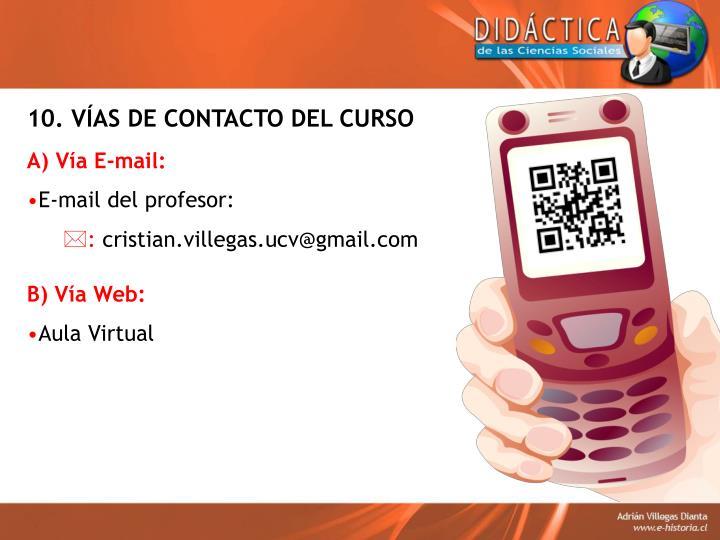 10. VÍAS DE CONTACTO DEL CURSO